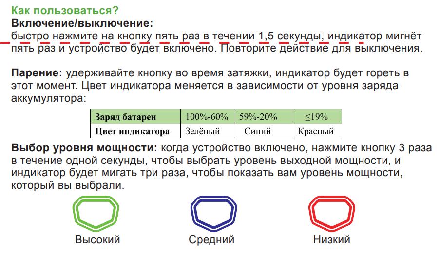 Инструкция Eleaf iJust Mini
