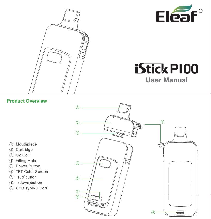 Инструкция Eleaf iStick P100